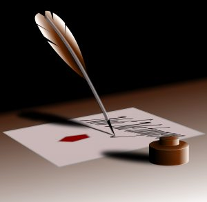 Quill Pen For Copywriting